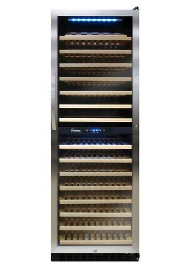 Vinotemp VT-155SBW - 155 Bottle Dual Zone Touch Screen Wine Cooler ...