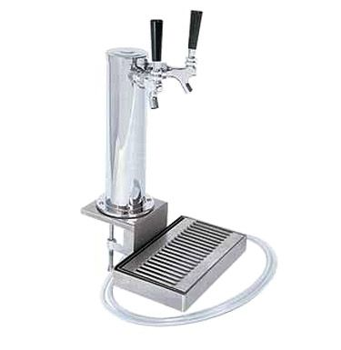 Dual Faucet Clamp-on Beer Tower
