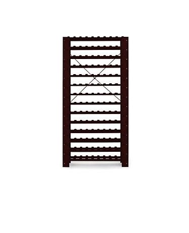 Swedish Pine Wine Rack, Mahogany
