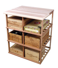 Photo of Designer Series Double Deep Wood Case Storage Table