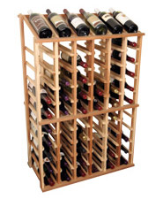Photo of Designer Series Individual Half Height Wine Rack with Display Row.