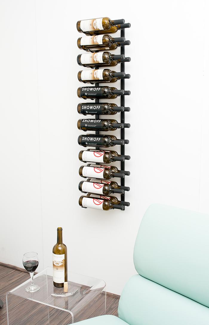 4u0027 wall mount 24 bottle wine rack brushed nickel finish