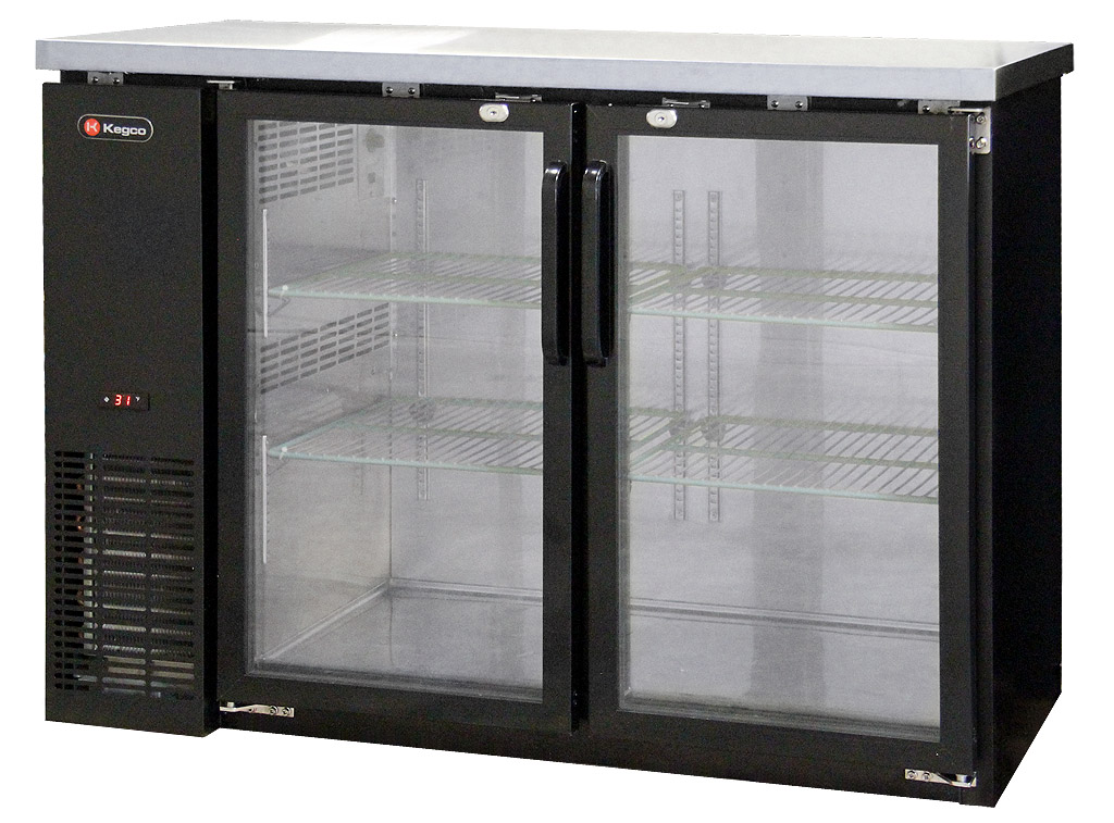 Perfect Commercial Back Bar Refrigerator With Two Glass Doors