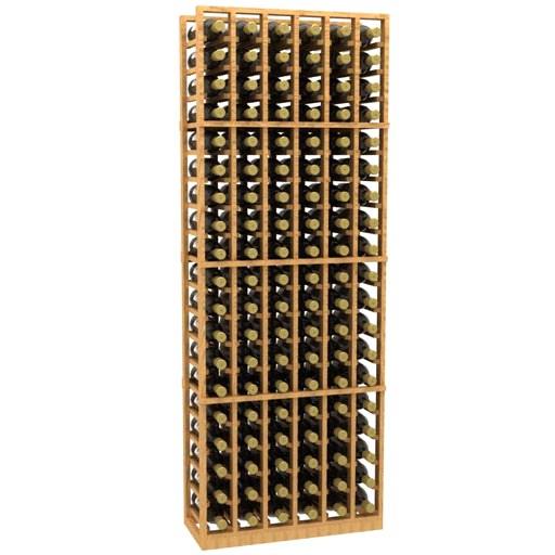 Allavino 6 Column 114 Individual Bottle Wood Wine Rack Beveragefactory Com