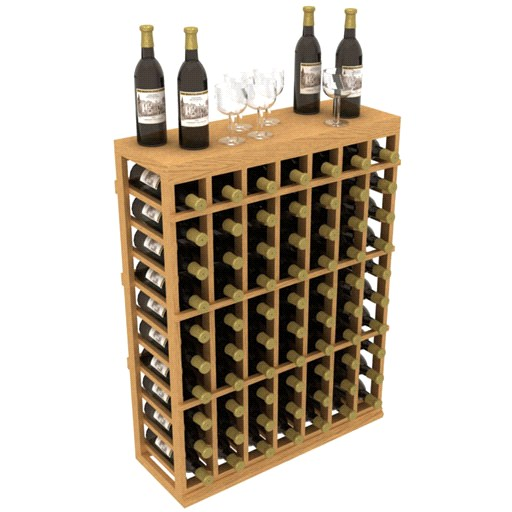 Allavino 70 Bottle Individual Half Wood Wine Rack With Table Top