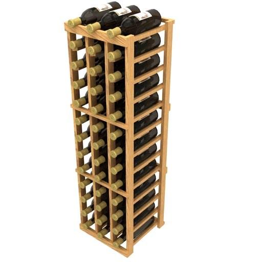 Allavino Stackable Three Column 36 Bottle Wood Wine Rack Beveragefactory Com
