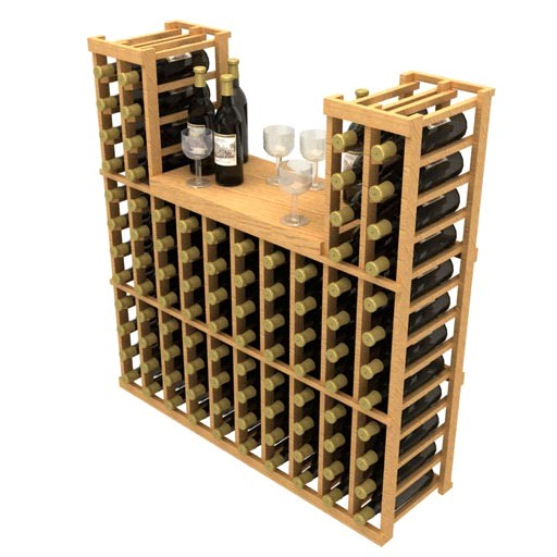 Allavino Stackable Table Top 100 Bottle Wood Wine Rack