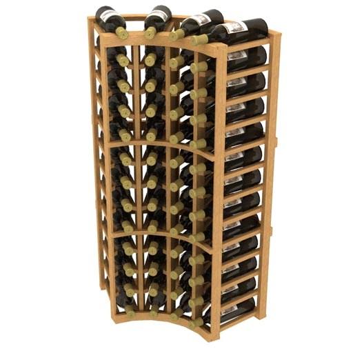 Allavino Stackable Curved Corner 48 Bottle Wood Wine Rack