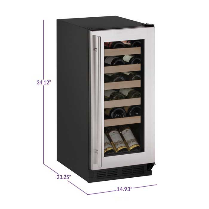 U Line 1000 Series 1215wcs 00b Wine Captain 24 Bottle Wine