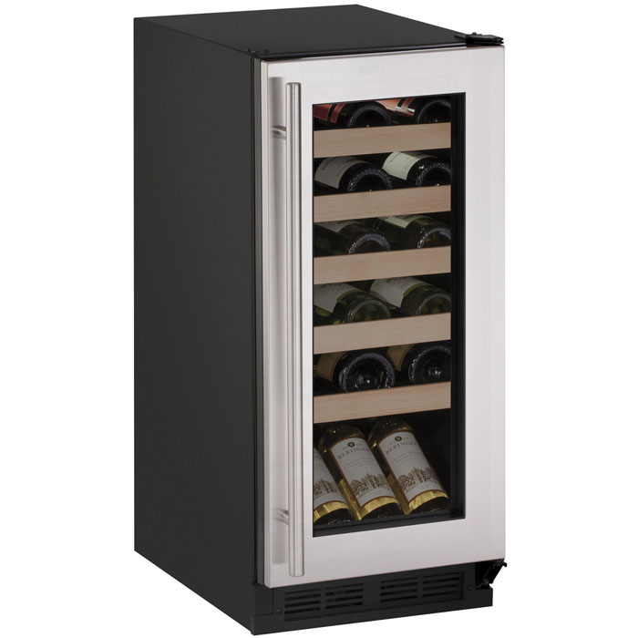 u-line 1000 series 1215wcs-00b wine captain 24 bottle wine cooler