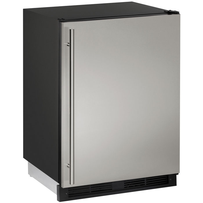 1000 Series Frost Free Refrigerator / Freezer   Black Cabinet With  Stainless Steel Door