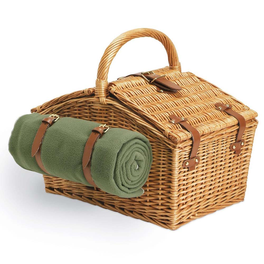 Picnic Time 213-87-130 Somerset English Style Double Lid ...