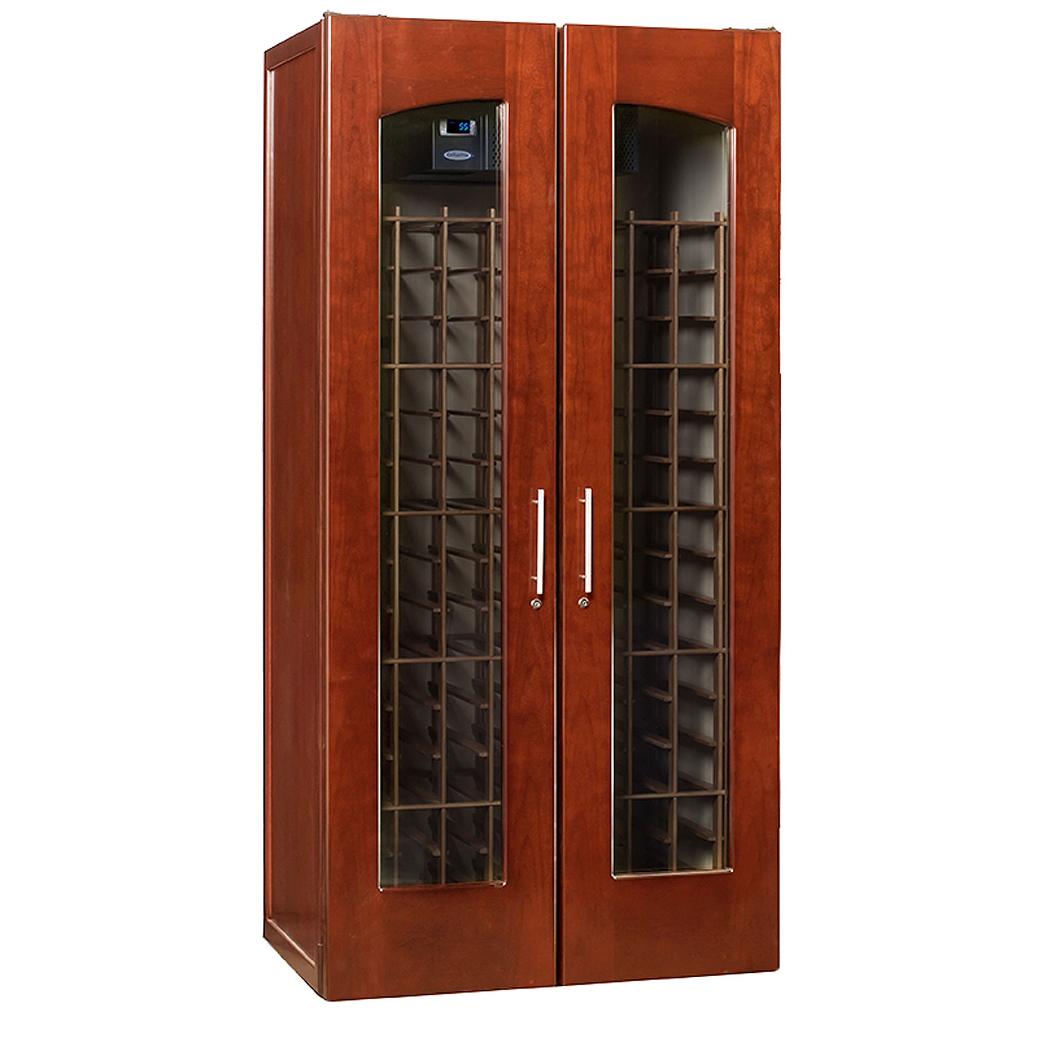 Le Cache Model 2400 Wine Cellar  sc 1 st  BeverageFactory.com & Le Cache 2400 Premium Wine Cellar Cabinet - Classic Cherry Finish ...