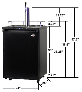Kegco K309ss 2 Digital Double Tap Keg Faucet Dispensers Black
