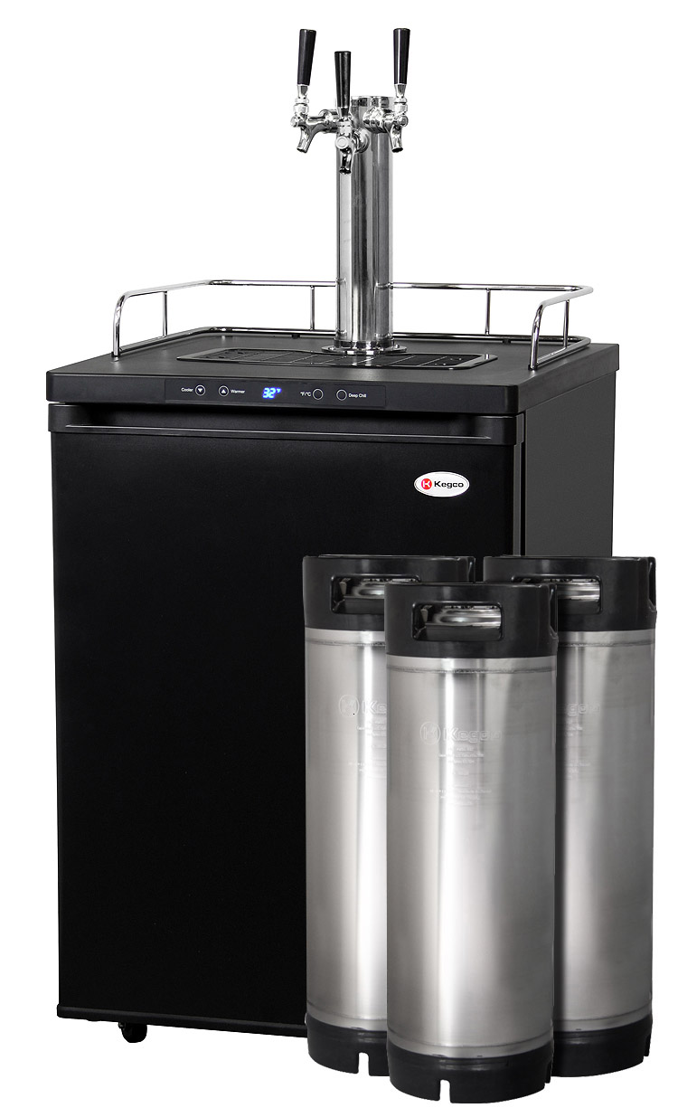 Kegco HBK309B-3K Three-Faucet Homebrew Beer Keg Refrigerators - Ball ...