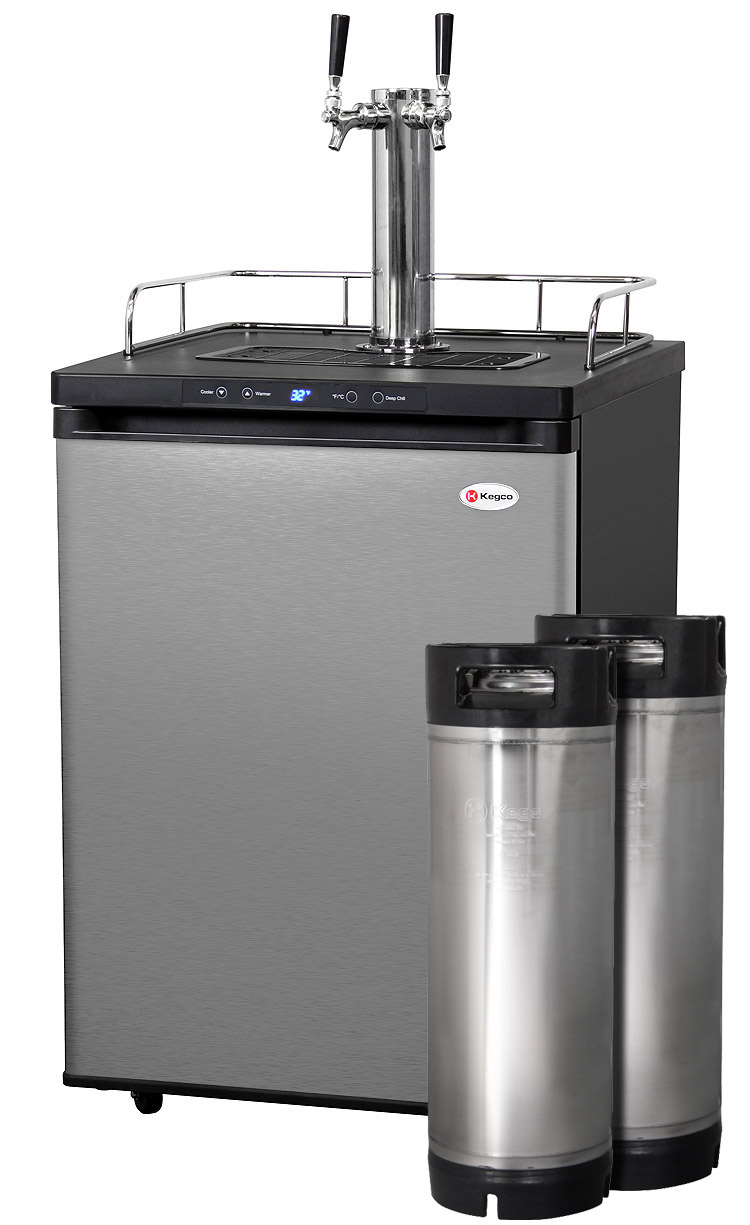 Kegco Hbk309s 2k Digital Double Faucet Home Brew Kegerator