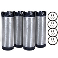 Set of 4 - Reconditioned  5 Gallon Ball Lock Keg