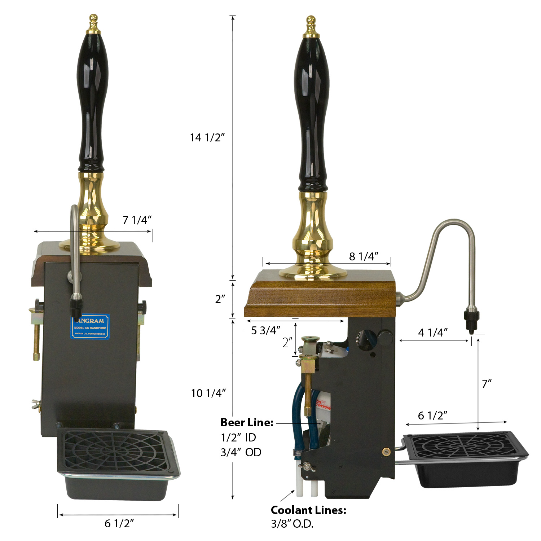 Angram CQ Handpump Dimensions