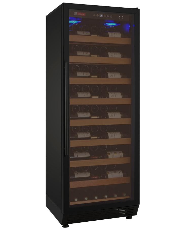 Vite Series 115 Bottle Single Zone Wine Refrigerator Black Cabinet And Door Hinge On Right