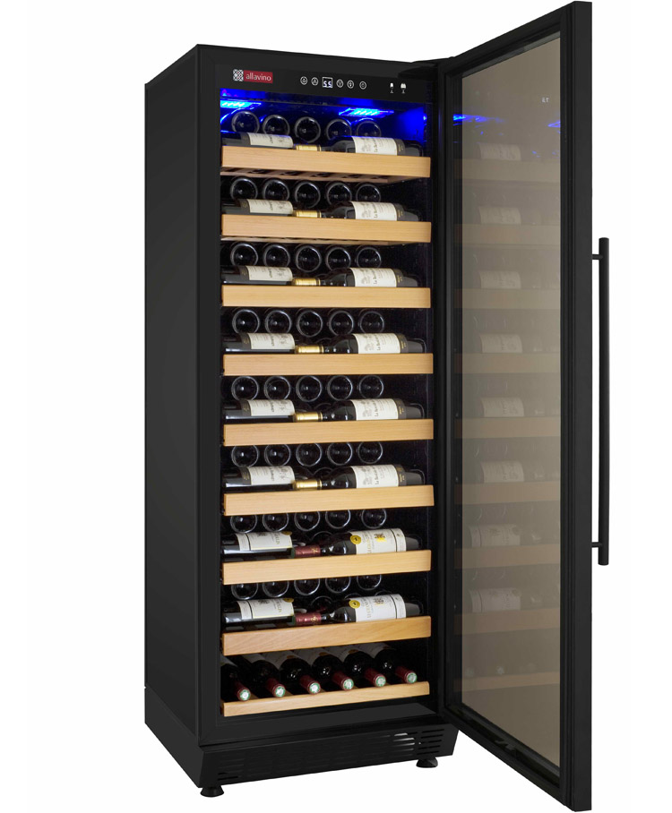 allavino yhwr115-1brn vite series 115 bottle single-zone wine cellar refrigerator
