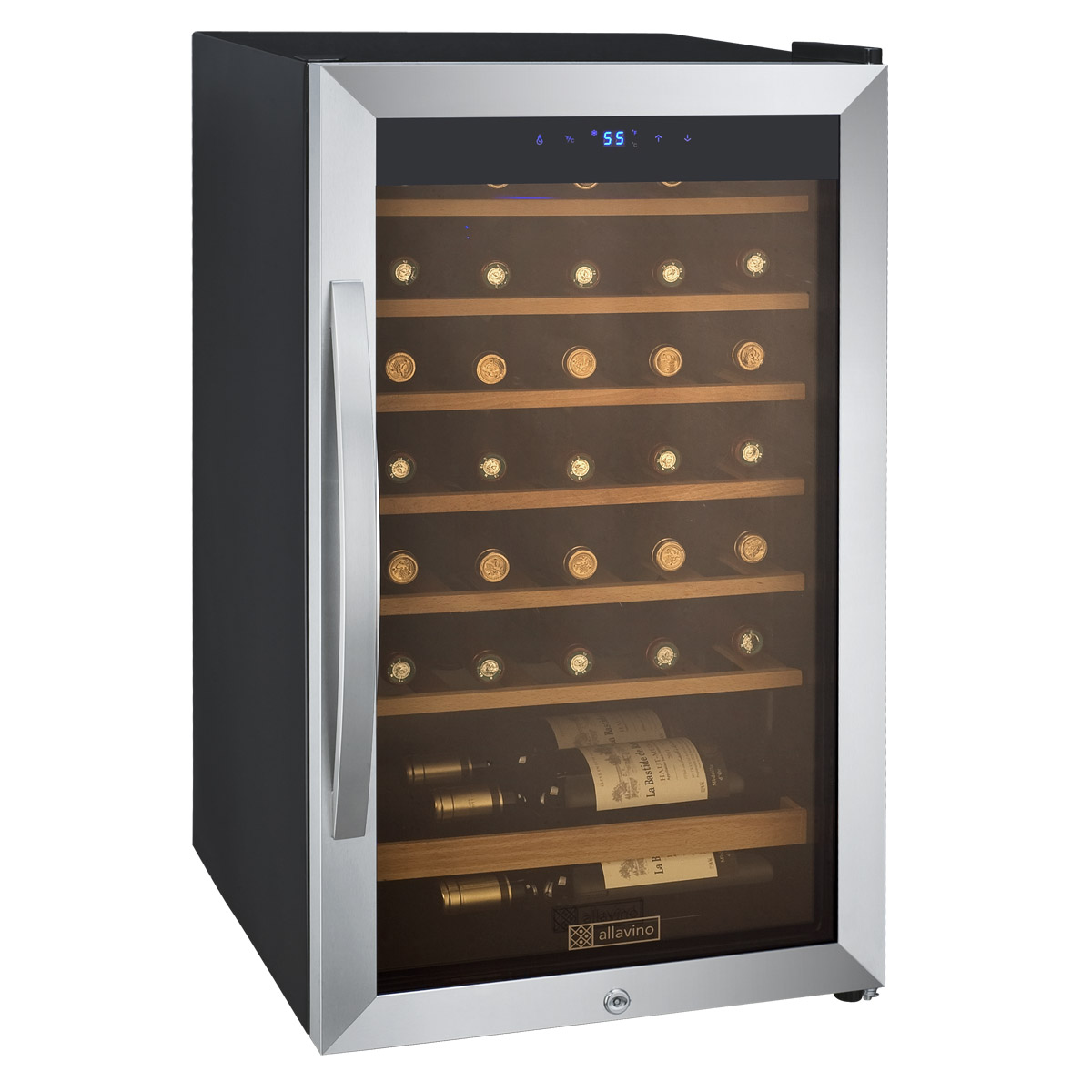 Cascina Series 34 Bottle Wine Refrigerator  sc 1 st  BeverageFactory.com & Allavino CDWR34-1SWT Cascina Series 34 Bottle Wine Refrigerator ...