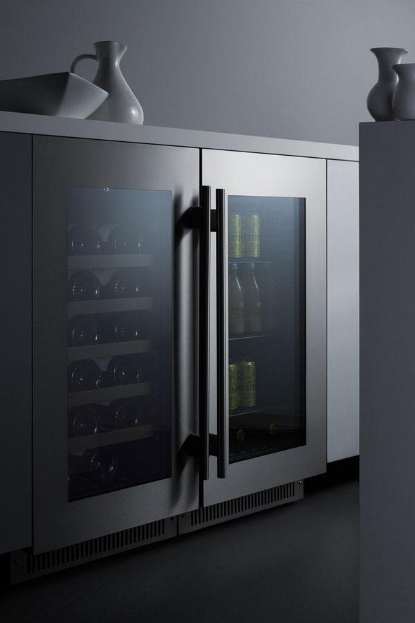 Summit Cl181wbv Beverage Refrigerator Black Stainless
