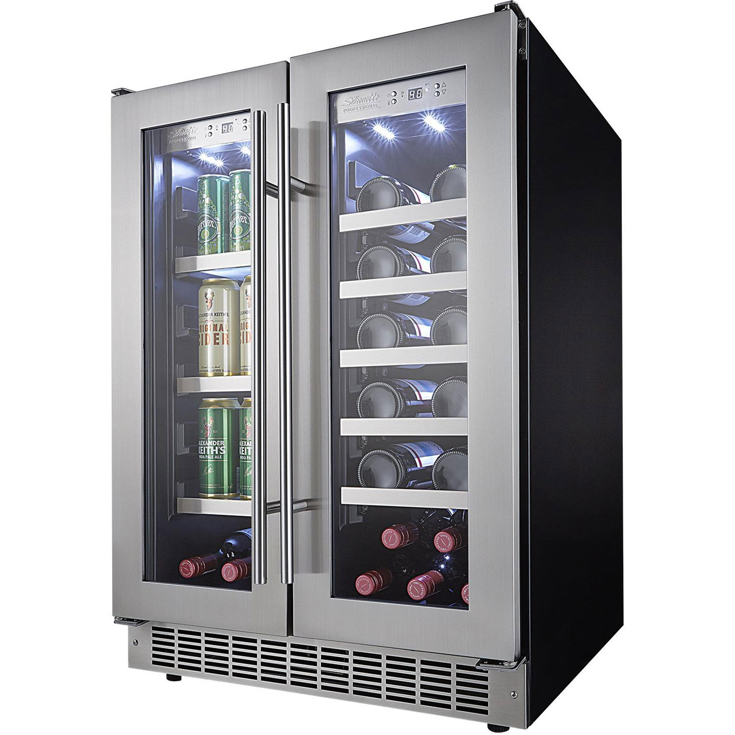 Charmant Highlights. The Danby DBC047D3BSSPR Silhouette Lorraine French Door  Beverage Center ...