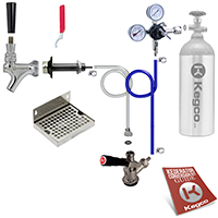 Deluxe Door Mount DIY Kegerator Keg Tap Conversion Kit