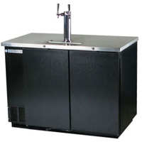 Two Keg Commercial Beer Cooler - Black Vinyl