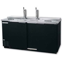 Commercial 3-Keg Club Top Kegerator - Black Vinyl