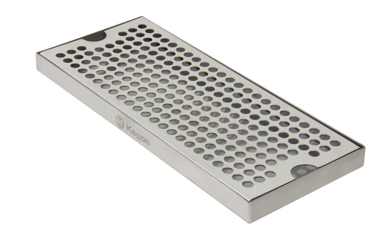 Kegco Dp 125 Draft Beer Drip Tray 12 Quot Stainless Steel