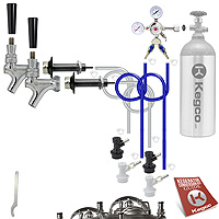Standard Homebrew Two Double Tap DIY Kegerator Conversion Kit