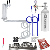 Kegco Economy Homebrew Two Tap Faucet Draft Tower DIY Kegerator Conversion Kit