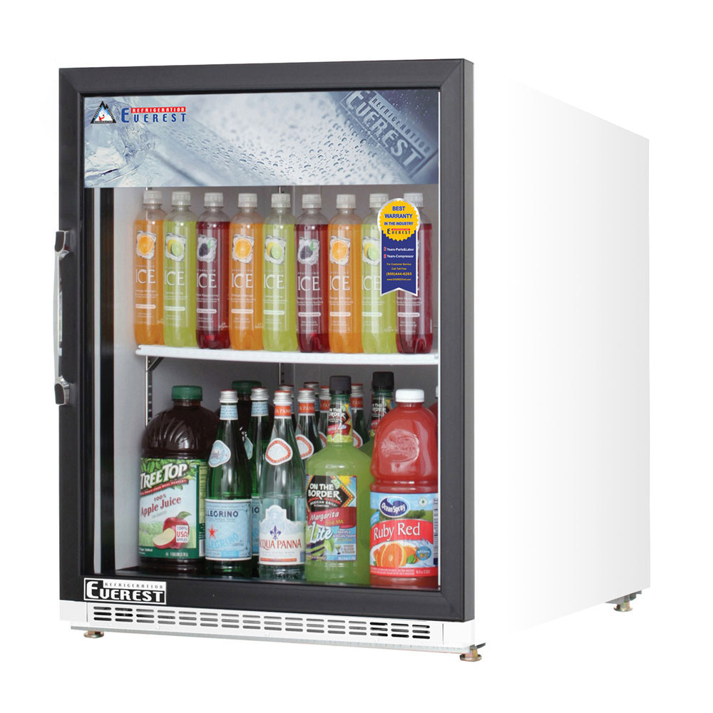 Everest Emgr5 707 Cu Ft Glass Door Merchandiser Refrigerator