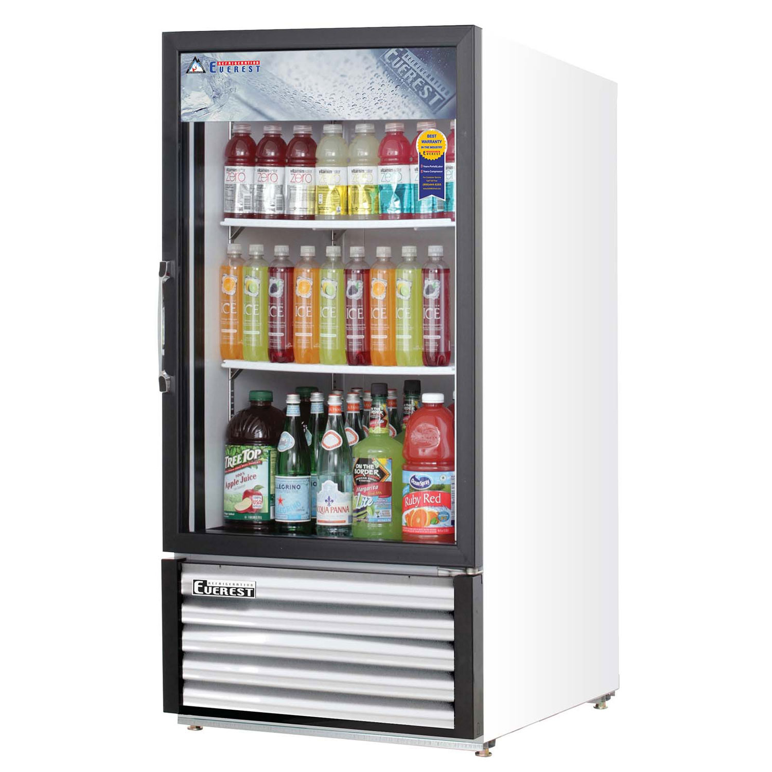 Everest Emgr8 838 Cu Ft Glass Door Merchandiser Refrigerator