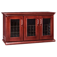 European Country Euro Credenza 180-Bottle Wine Cellar - Classic Cherry Finish