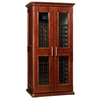 European Country Euro 2400 286-Bottle Wine Cellar - Classic Cherry Finish
