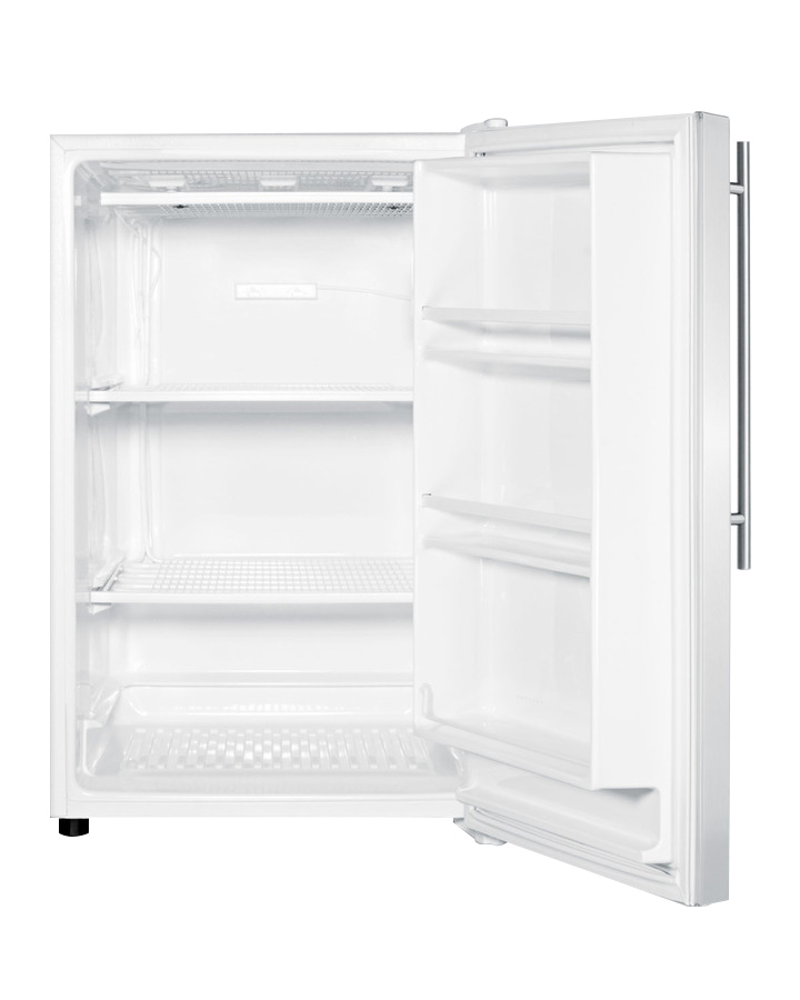 Summit Fs603ssvh White Front Opening Upright Freezer