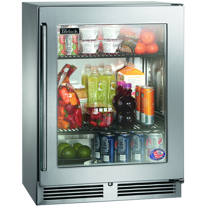 "Luxury Refrigerators: Perlick HH24RS-3-3R 18"" Depth Signature Series Sottile"