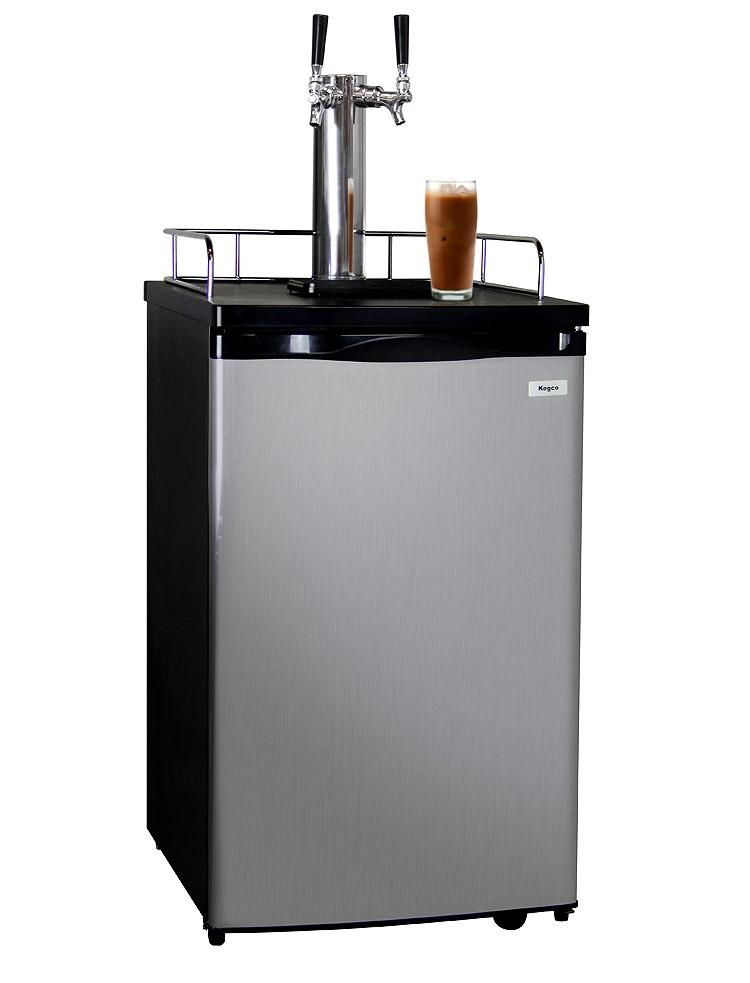 Kegco ICK19S-2 Dual Faucet Javarator | Iced Coffee Keg Dispenser ...