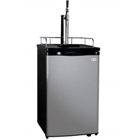 Guinness® Dispensing Kegerator with Black Cabinet and Stainless Steel Door