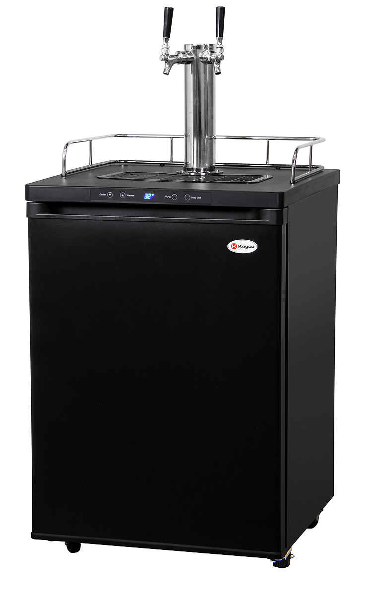 Kegco K309B-2 Two Faucet Keg Beer Coolers - Black Beer Keg ...