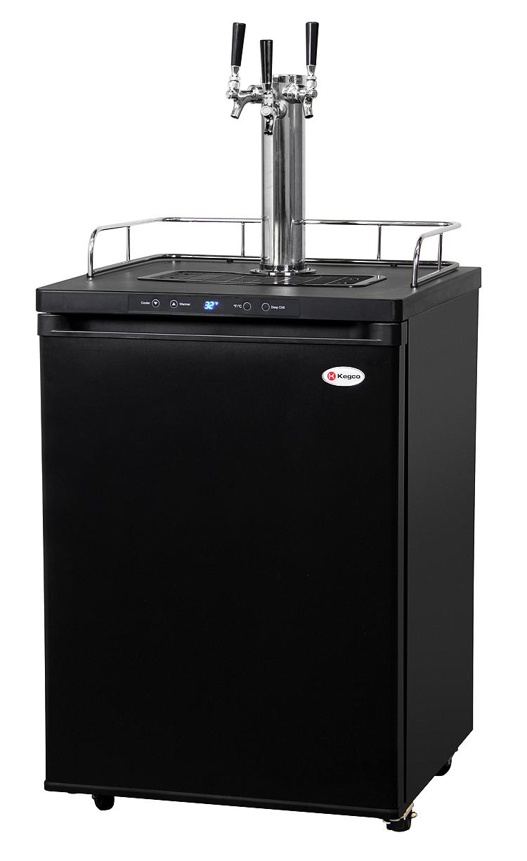 Kegco K309B-3 3-Faucet Beer Keg Refrigerators - Black Keg Beer ...