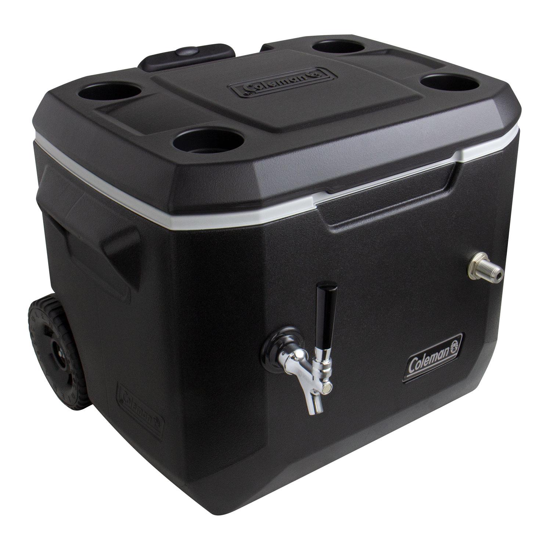 Kegco Single Faucet Rolling Jockey Box - 50 Qt., 3/8\