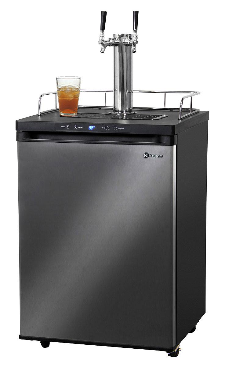 Kegco KOM30X-2 Dual Faucet Digital Kombucha Keg Coolers Dispensers ...