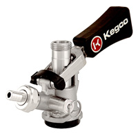 D System Ergonomic Keg Coupler with Lever Handle and Stainless Steel Probe