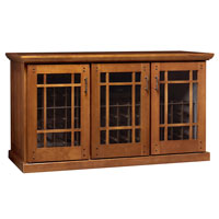 Mission Credenza 180-Bottle Wine Cellar - Provincial Cherry Finish