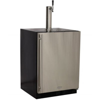 Marvel 61HK-BS-X-1 Built-in Kegerator with Black Cabinet & Stainless Steel Door