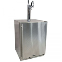 Outdoor Kegerator Cabinet with X-CLUSIVE 3 Faucet Home Brew Keg Tapping Kit