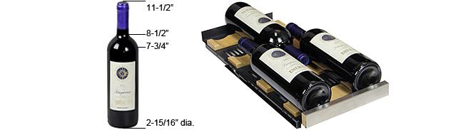 Standard 750 mL bottle configuration